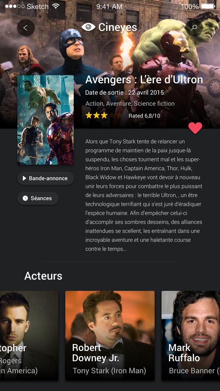 Cinema IOS App – User interface by giovanni