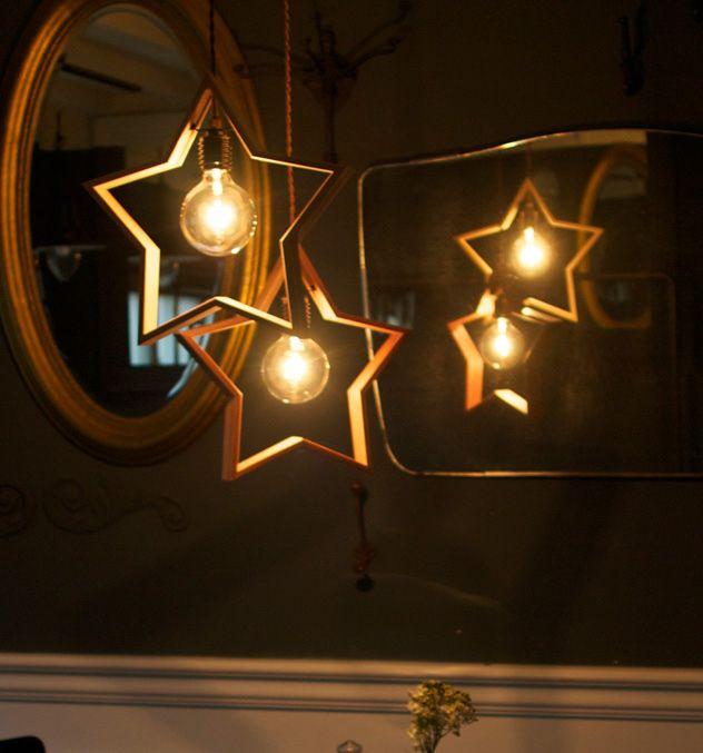 星のペンダントライト。 APROZ DOM Wood pendant light ドム ウッド ペンダントライト