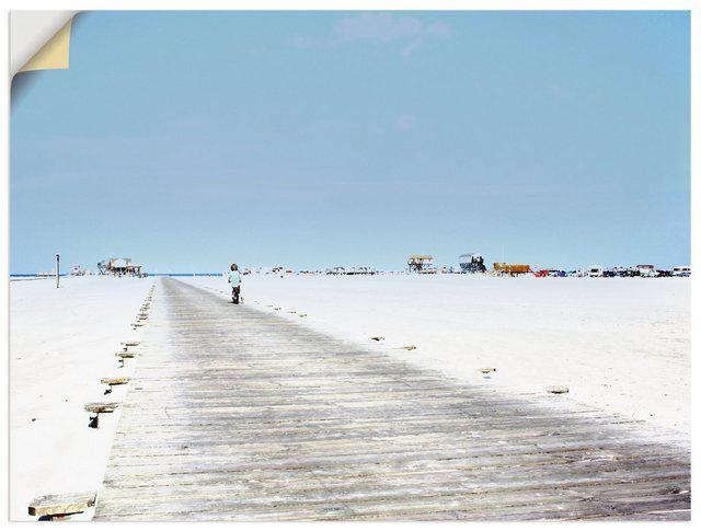 Premium Wandfolie »Claudia Burlager: Auf zum Strand«