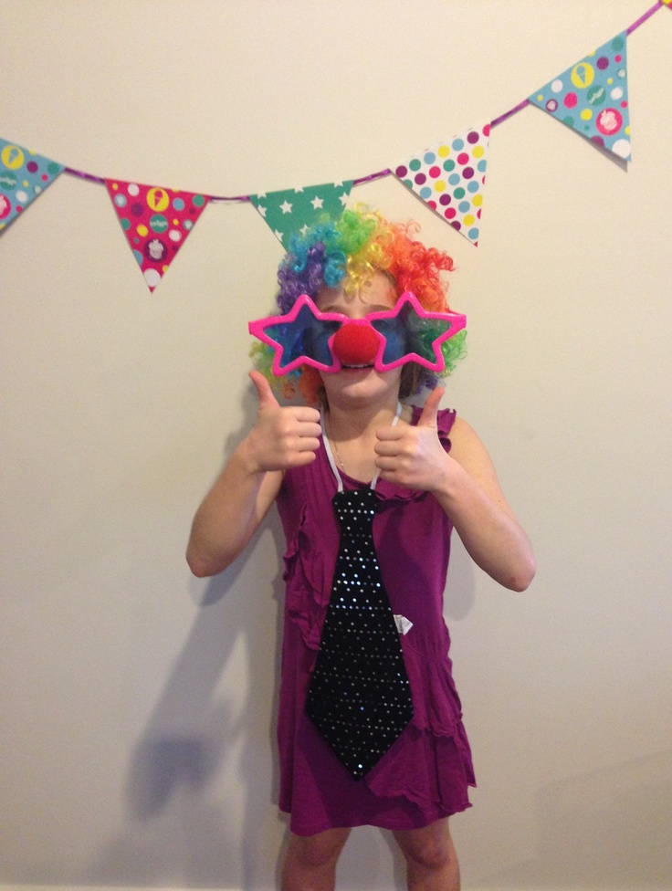 Smiggle Party Banner as a backdrop for 'photo booth' style photos