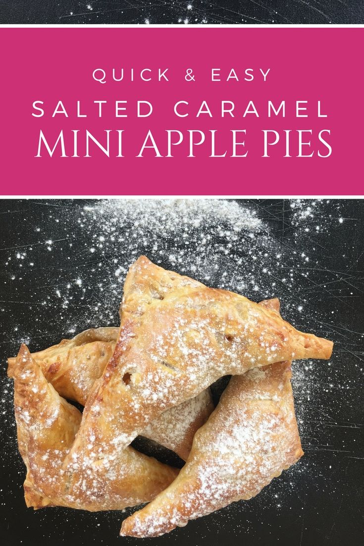 Quick & Easy mini salted caramel apple pies: These quick and easy mini pies are tender, flaky, and buttery with a salted caramel apple filling. They taste absolutely amazing and no boiling for the filling is required | Ioanna's Notebook