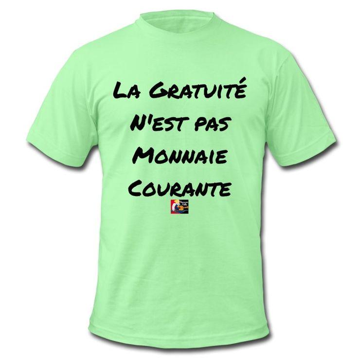 Mon t-shirt à 2 balles : La gratuité n'est pas monnaie courante  Commande ici ton modèle : https://shop.spreadshirt.fr/jeux-de-mots-francois-ville/15871685?q=I15871685  Découvre-en d'autres du même acabit : https://shop.spreadshirt.fr/jeux-de-mots-francois-ville/gratuit  #tshirt #spreadshirt #gratuit #free #monnaie #argent #prix #soldes