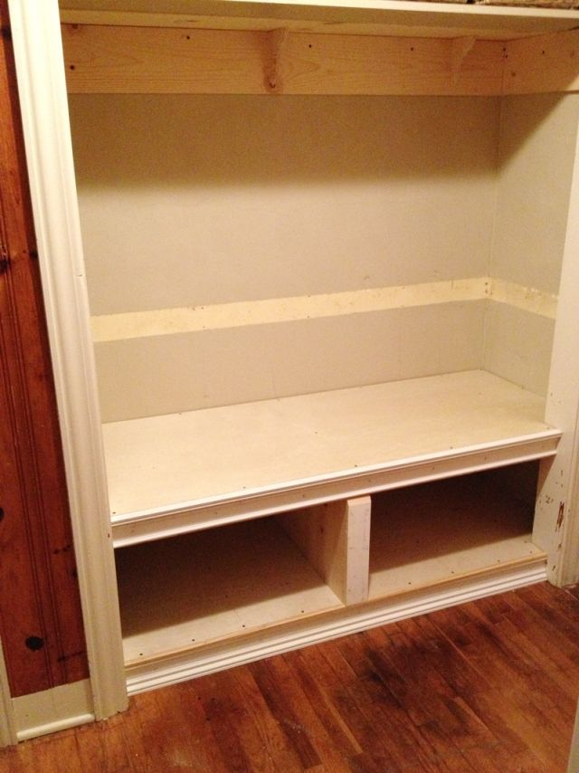 Tutorial How To Build A Bench In A Closet Closet Makeover Entry Closet Front Closet