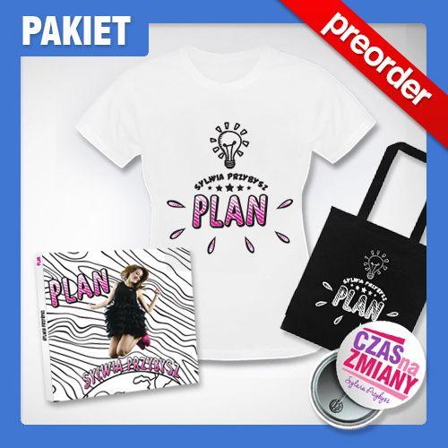 (Preorder) Pakiet Sylwii Przybysz ( Koszulka, torba, płyta z autografem + przypinka)