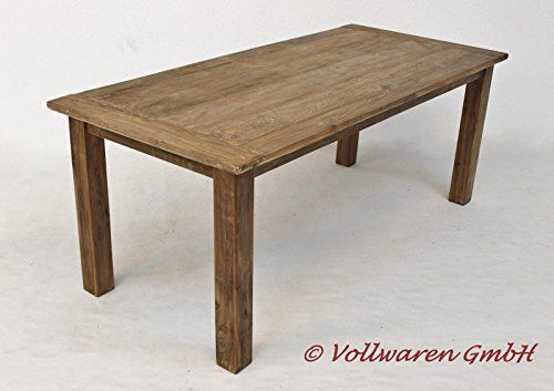 ESSTISCH TEAK SE6-2 9 GRÖßEN Tisch Tafel Teakholz antik massiv Landhaus Möbel