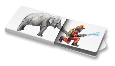 Matěl Doležel - Hasič #Hasič #Fireman #elephant #ilustration #ChewingGums #Žvýkačky