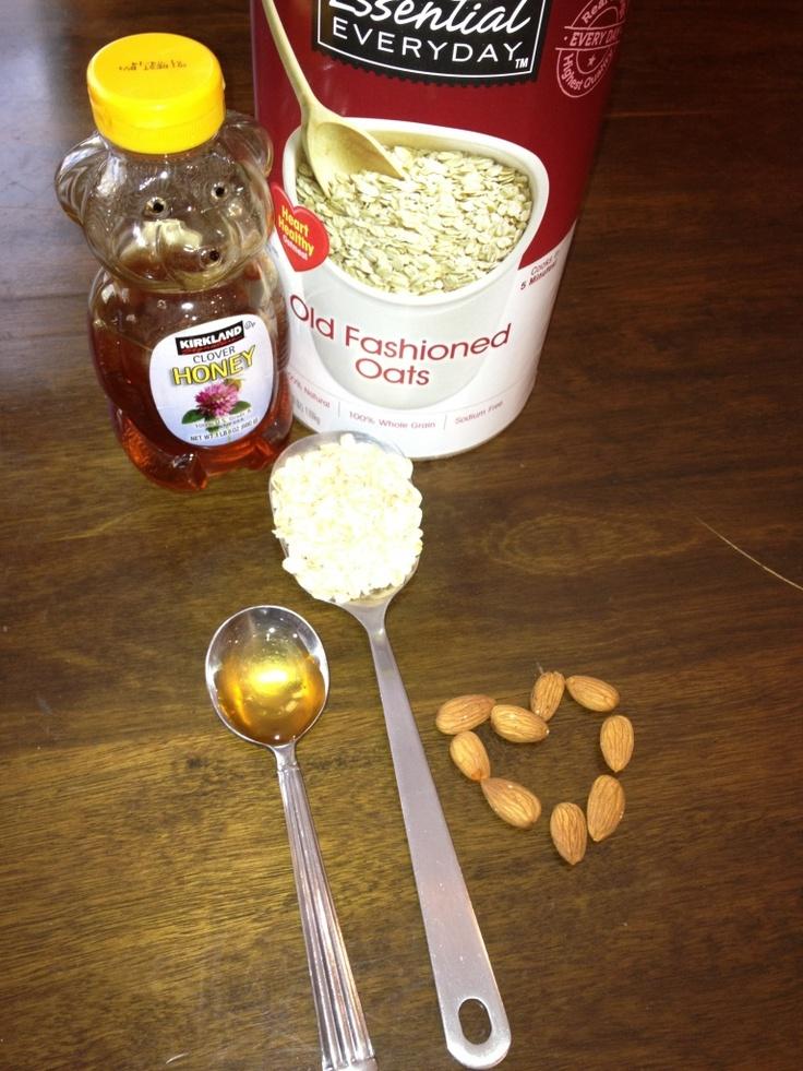 Home made honey kissed oatmeal scrub for dewy, clean skin!