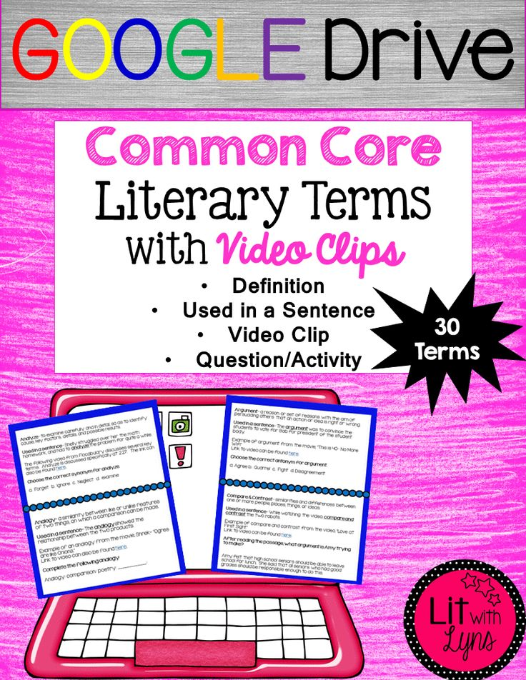 A Literary Labour Of Love Tyndale Blog Network Review I: Common Core Literary Terms W/ Video Clips & Activities