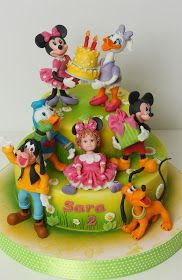 Torturi - Viorica's cakes: Mickey si prietenii lui la petrecerea Sarei