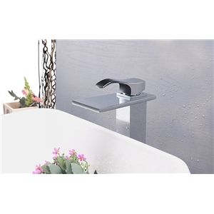 Bathroom Sink Faucets - Modern Contemporary Waterfall Basin Faucet With Single Handle Bathroom Taps (MS118)