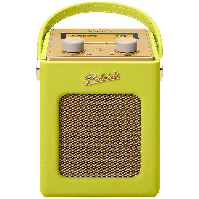 Roberts Tropical Revival Mini DAB/DAB+/FM Digital Radio Zesty Lime