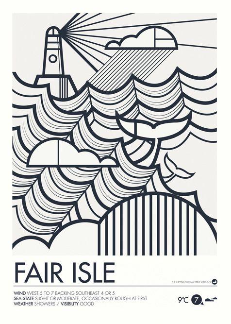 Image of Shipping Forecast Prints - Fair Isle