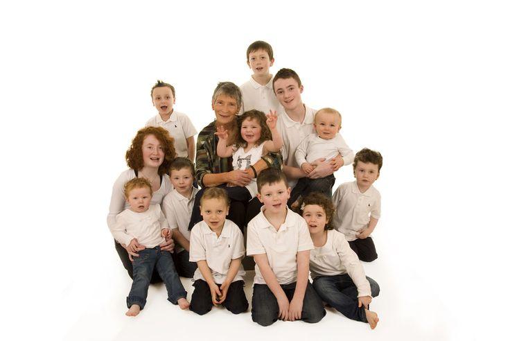 Large Family Portrait Clothing Ideas