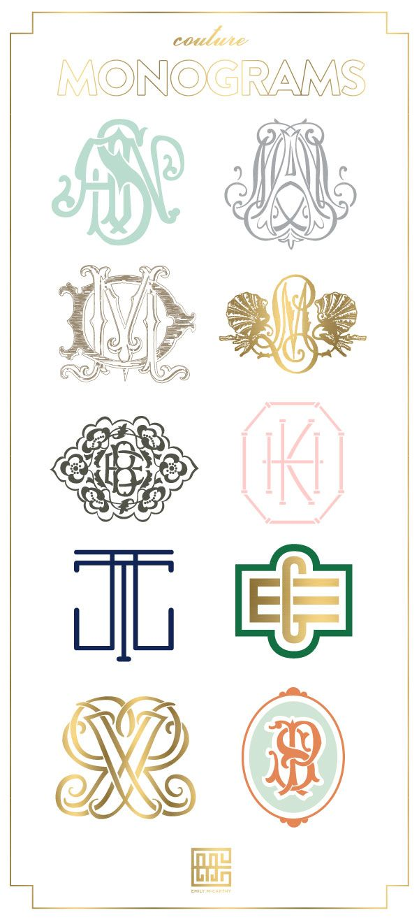 Monogram Designs by Emily McCarthy sister in law of @Colleen Sweeney Sweeney McCarthy! Love her work Colleen !