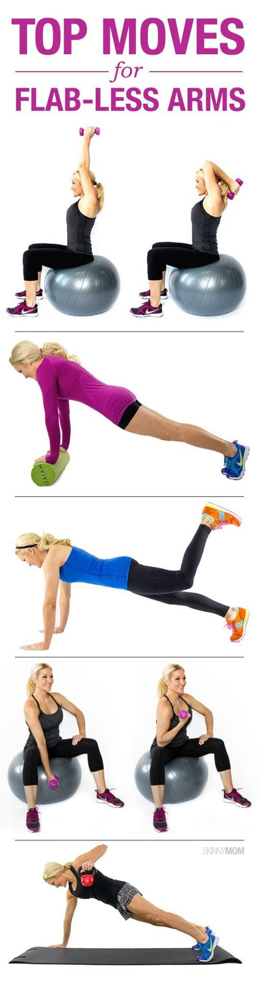 15 Fabulous Moves for Flab-less Arms. Pin now, check later.