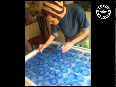 ebru art time lapse video