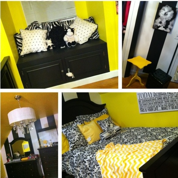 Black And White And Yellow Bedroom 10 best yellow, black & white interiors images on pinterest