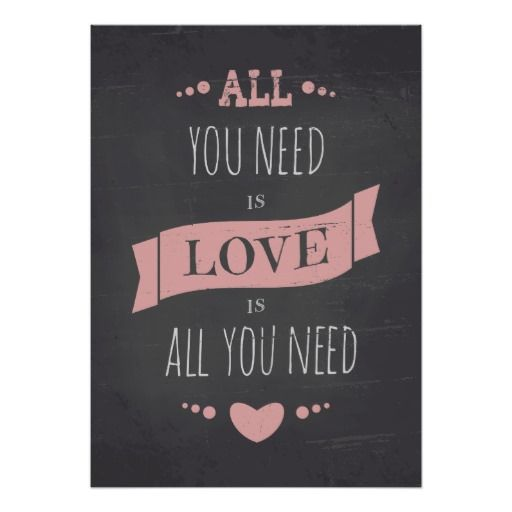 valentines day chalkboard style poster - Valentines Posters