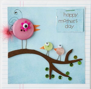Scrapbooking Mothers Day Card Idea