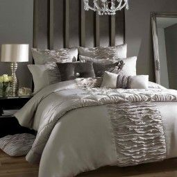 Kylie Gianna Truffle Bedding - Inject subtle glamour and sophistication into your bedroom by dressing your bed with Giana bed linen.