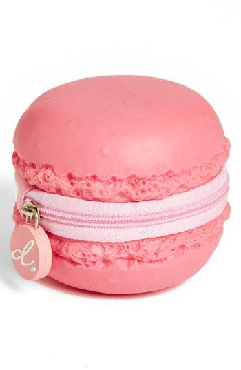 PIQ Products Strawberry Macaron Coin Purse available at #Nordstrom= I HAVE TO HAVE THIS