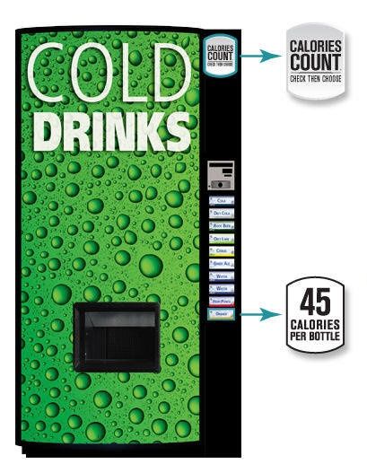 Watching your waistline? New soft drink vending machines ...