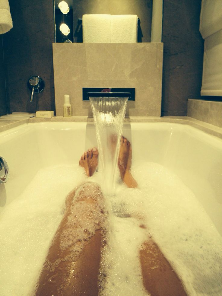 Pampers herself bathroom no more bad room pinterest - What uses more water bath or shower ...