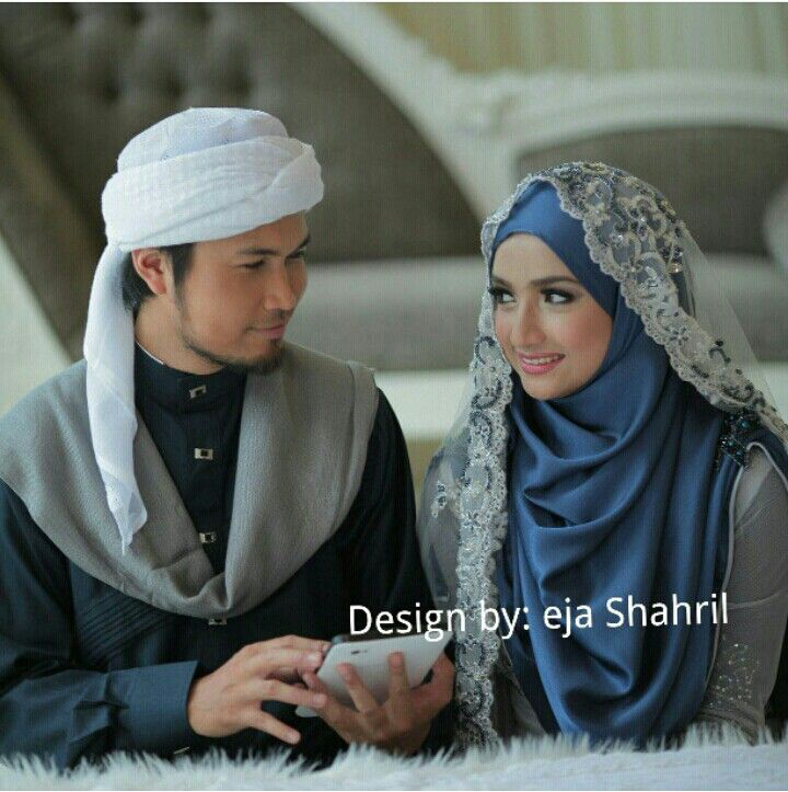 Wedding dress,shawl & jubah design by ejashahril
