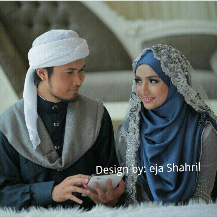 Wedding dress,shawl & jubah design by ejashahril