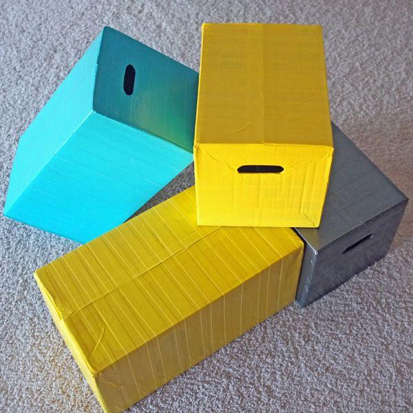 duct tape diaper box= building blocks