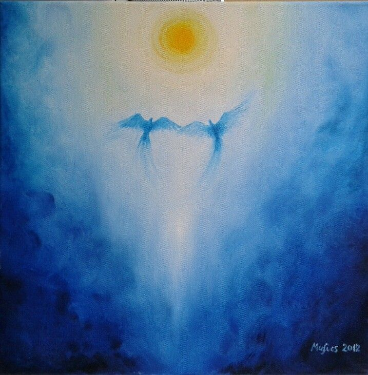 two pigeons (oil painting)