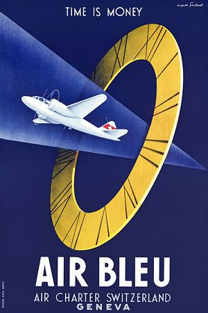 Vintage Air Blue Airlines promotional poster
