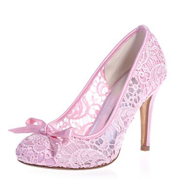 Women's Spring Summer Fall Lace Wedding Party & Evening Stiletto Heel Black Pink Ivory White 3944104 2017 – $50.04
