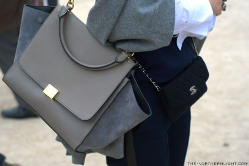 grey combo & a little Chanel bag....