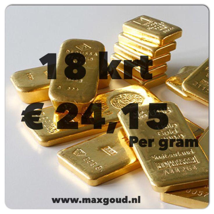 Vandaag € 18,84 per gram 14 krt goud dat kan alleen bij Max Goud u vertrouwde adres