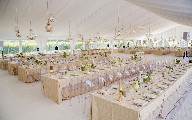 Chartreuse and gold marquee wedding celebration by Wedding Concepts. #design #weddingdecor #gold #chartreuse #wedding #marquee #ghostchairs #lighting #elegant #glamour