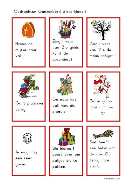 Onderwijs en zo voort ........: 1819. Sinterklaas spelletjes : Sinterklaas Ganzenb...