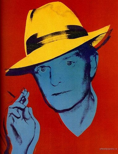 """Portrait by Andy Warhol, 1984, Truman Capote (1924-1984) was an American novelist, screenwriter, playwright, and actor, many of whose short stories, novels, plays, and nonfiction are recognized literary classics, including the novella Breakfast at Tiffany's (1958) and the true crime novel In Cold Blood (1966), which he labeled a """"nonfiction novel"""". At least 20 films and television dramas have been produced of Capote novels, stories, and plays."""
