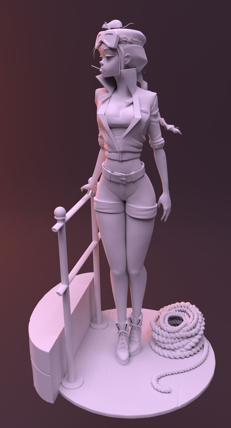 This is a sculpt based off Samuel youn's painting, 'Mouse' (https://www.artstation.com/artwork/nDN3K)