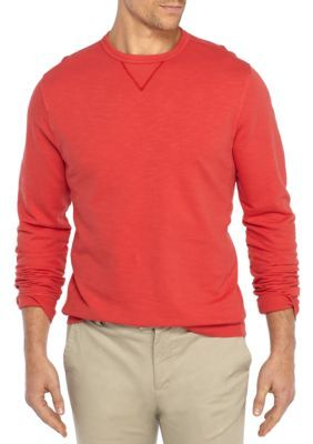 Crown & Ivy™ Men's Big & Tall French Terry Crew Pullover - Radiant Red - 3Xlt