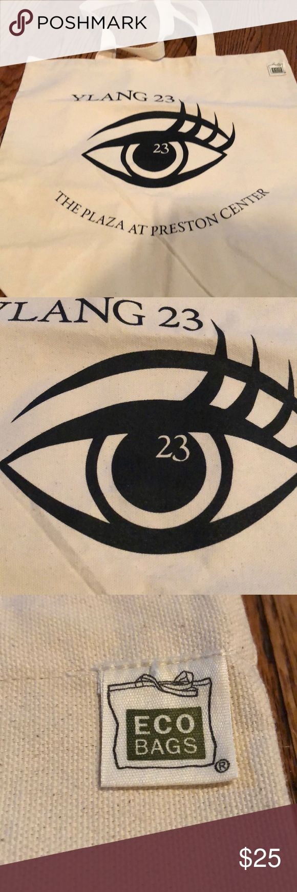 Brand New VIP Ylang23 Canvas Bag NWOT VIP Ylang23 canvas bag. Ylang23 is premier jewelry store in Dallas, TX. (Also online) Ylang23 Bags Totes