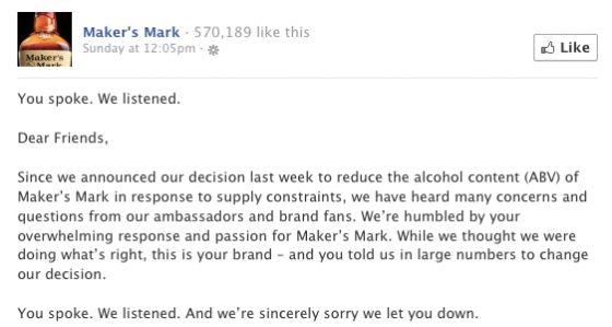 Příběh jedné whiskey - jak změnit průšvih na sociální síti na výhru?: Marketing journal
