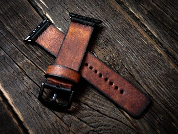 Vintage Distressed Apple Watch Band Strap 42mm /  by AliceMidnight