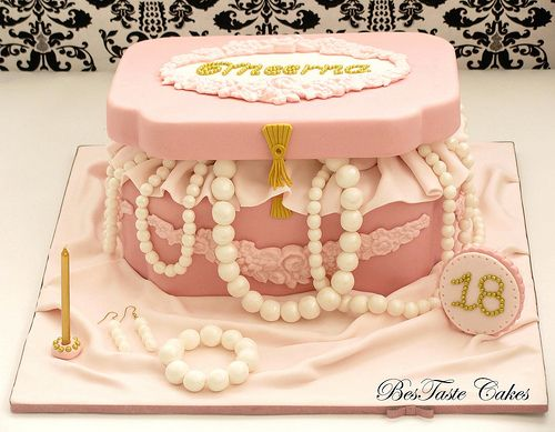 17 best images about cake ideas for beading jewelry making - Jewel cake decorations ...