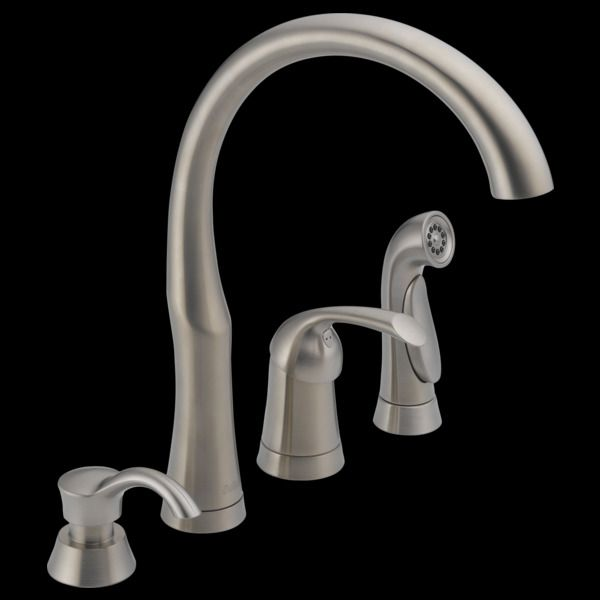White Kitchen Faucets 4 Hole Home Furniture One Pinterest