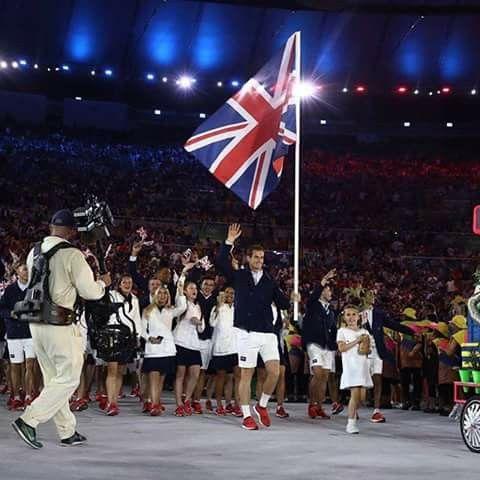 Andy Murray.Team GB Flag Bearer.