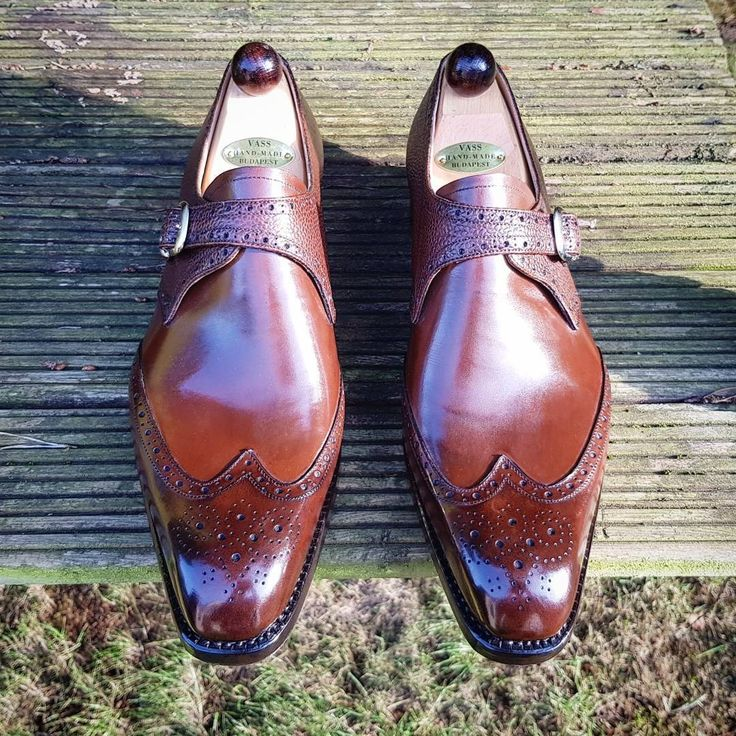 "ascotshoes: ""The richness of the Vass Antique Cognac Calf reflecting off the setting sun….. """