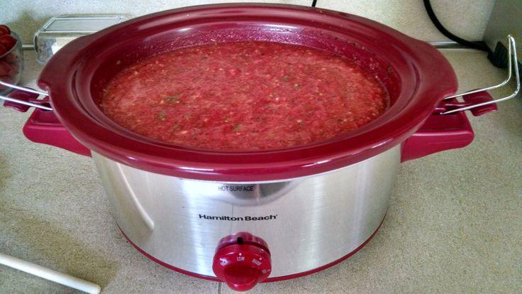 tomato sauce in crock pot