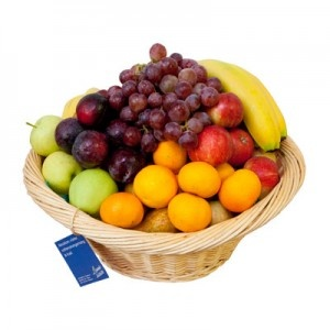 Stor härlig fruktkorg