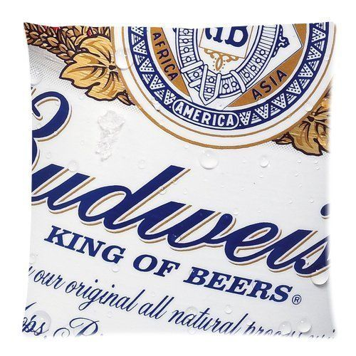 Budweiser Beer Custom Throw Pillow Pillowcase DIY Cushion Case Roomy in Size 18 x 18 Inch >>> Special  product just for you. See it now! : DIY : Do It Yourself Today